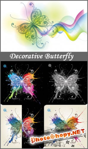 Decorative Butterfly - Stock Vectors