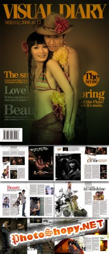 Fashion magazine - Photo Templates