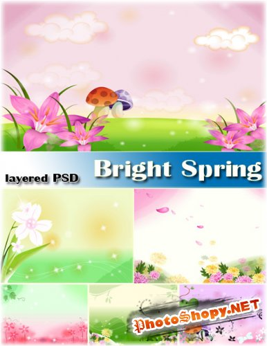 Яркая Весна | Bright Sping (layered PSD)