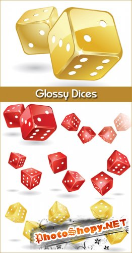 Glossy Dices - Stock Vectors