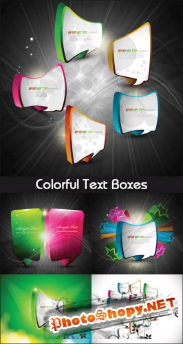 Colorful Text Boxes - Stock Vectors