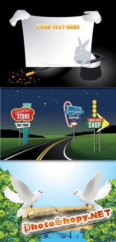 Outdoor advertising signs licensing Vector