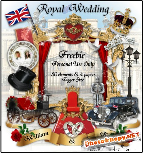 Scrap-set - Royal Wedding