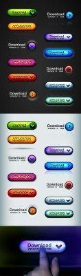 Web 2.0 button set pro - GraphicRiver