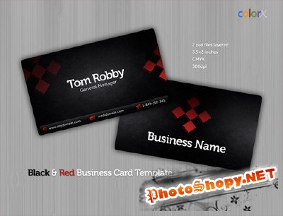Black & Red Business Card