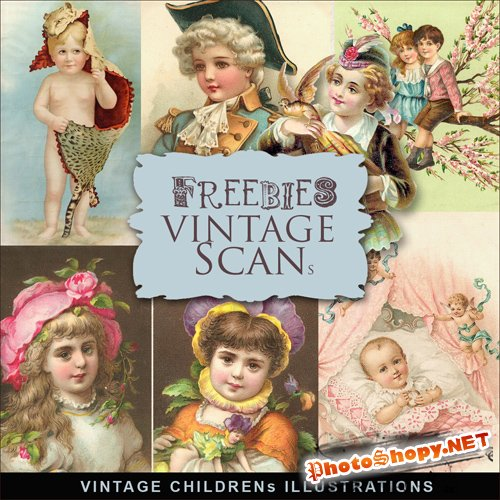 Scrap-kit - Vintage Childrens Illustrations #3