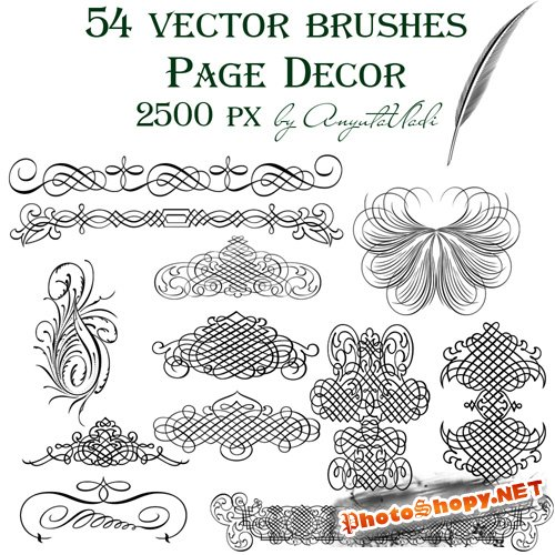 vector brushes Page Decor