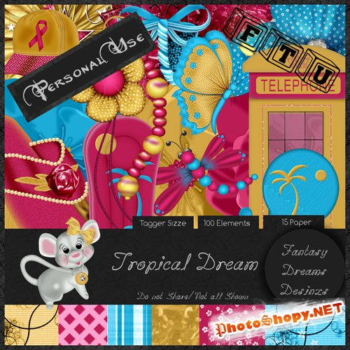 Scrap-set - Tropica Dream