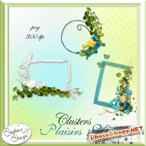 Scrap-kit - Clusters - Plaisirs Nature