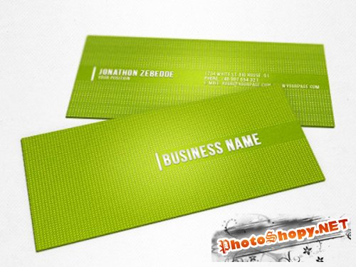 Green Dots Business Card