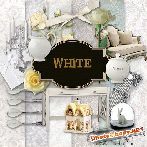 Scrap-kit - White Style Set