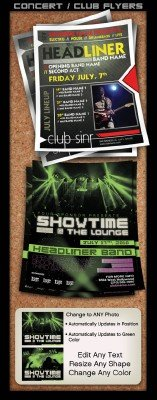 Concert club flyers