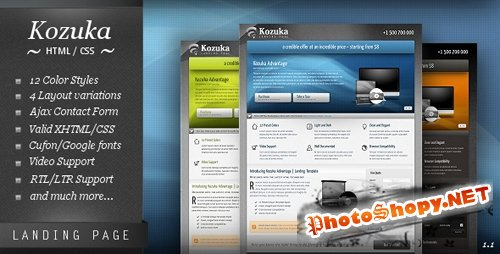 ThemeForest - Kozuka Landing Page (All Colors and Styles) - RIP