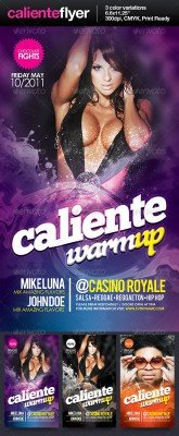 Caliente party flyer