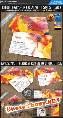 Citrus paragon corporate business card