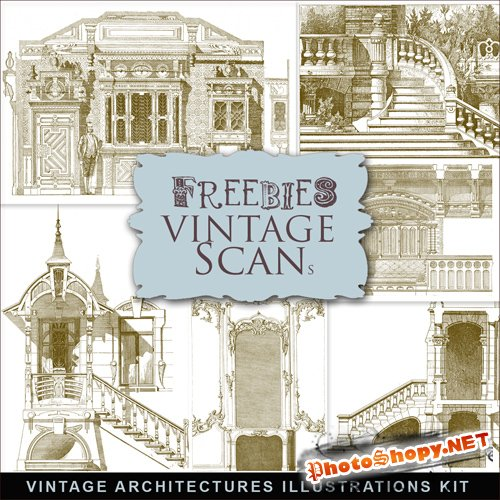 Scrap-kit - Vintage Architecture Illustrations