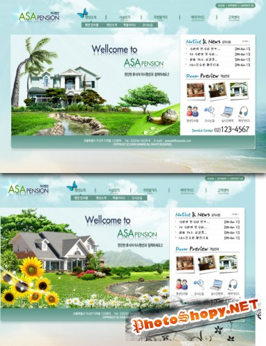 South Korea travel holiday web templates