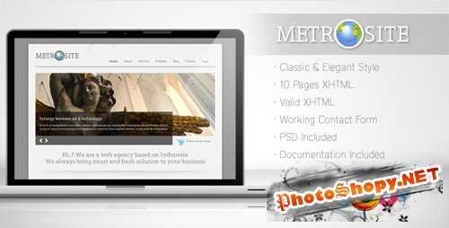 ThemeForest Metrosite - Classic Business Template RETAIL