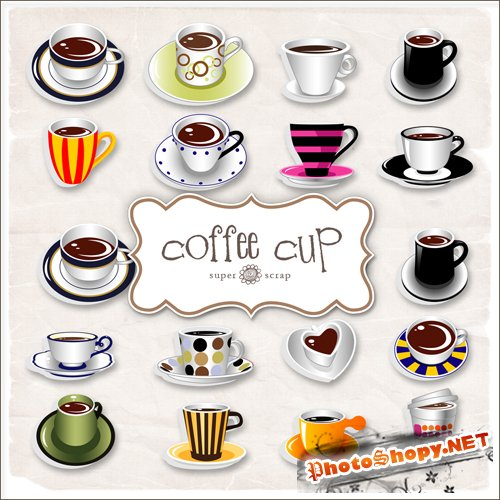 Scrap-kit - Coffee Cup