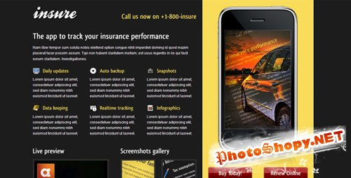 ThemeForest - Insure Landing Page (All Styles & Colors) - RiP