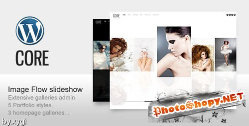 ThemeForest - Core Minimalist Photography Portfolio WordPress Theme