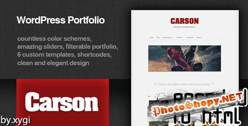 ThemeForest - Carson - Elegant Portfolio Theme RECODED TO HTML - FULL RIP