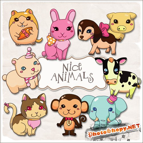 Scrap-kit - Nice Animals #3