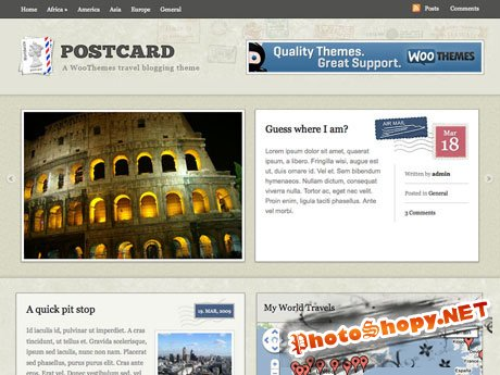Woothemes Postcard v1.7.1 for WordPress 3.x