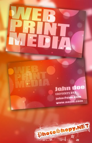Bokeh Business Card 2 PSD Template