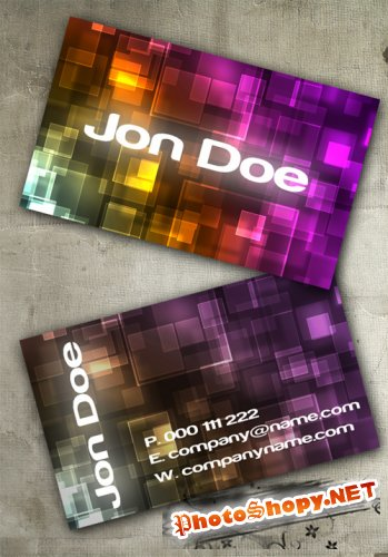 Bokeh Business Card PSD Template