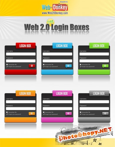Web 2.0 Login Boxes (Login Forms)