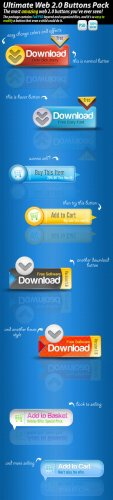 Ultimate Web 2.0 Download Buttons