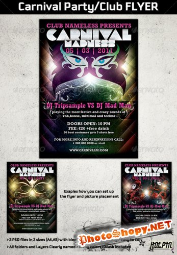 GraphicRiver - Carnival Party/Club Flyer Templates