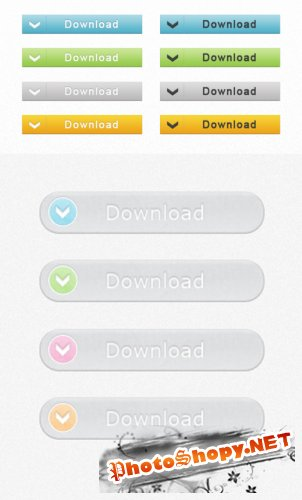 Download WEB Buttons 1-2 PSD