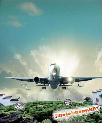 Flyby unlimited creative design PSD layered material