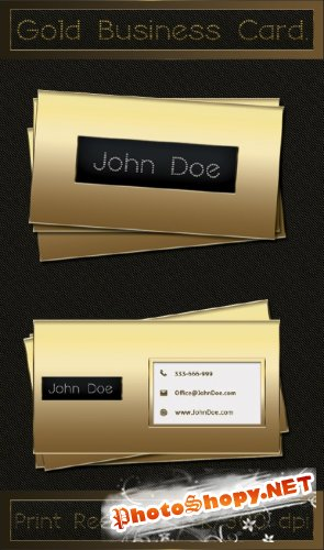 Gold Business Card , Free PSD