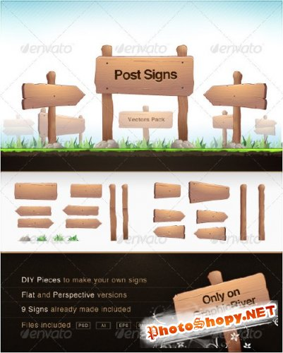 GraphicRiver Post Signs Vector Pack