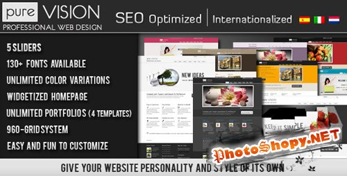 ThemeForest - Purevision Theme v1.4.1 for Wordpress v3.x