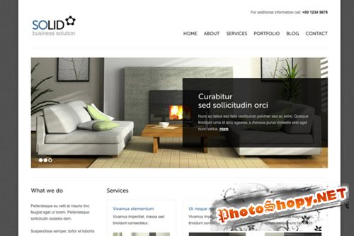 Solid Furniture Free WP Theme