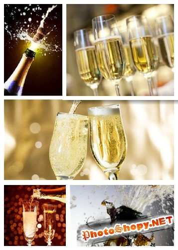 Шампанское и фейерверк - фотосток | Stock Photo - Champagne