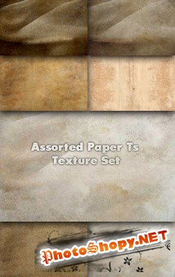 Assorted Paper texture set