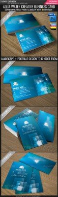 Aqua Water Corporate Business Card - GraphicRiver