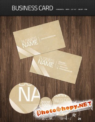 Clean designers business card