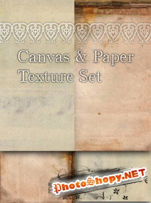 Canvas and Paper texture set