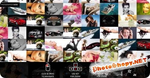 Grid Flash Photo Album Template