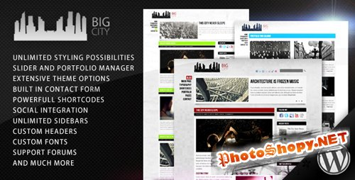 Themeforest Big City - Personal and Blog Theme v1.4 for Wordpress 3.x