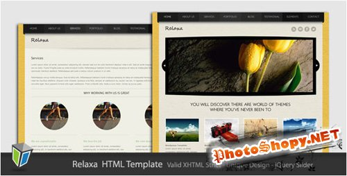 ThemeForest -Relaxa - Unique and Modern HTML Template - RIP