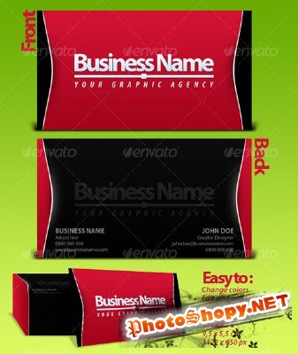 Black-Red business card GraphicRiver