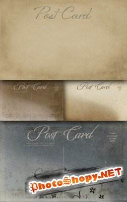 Post card set of textures
