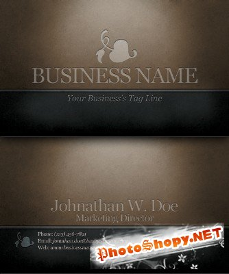 Engraved dark classic business card